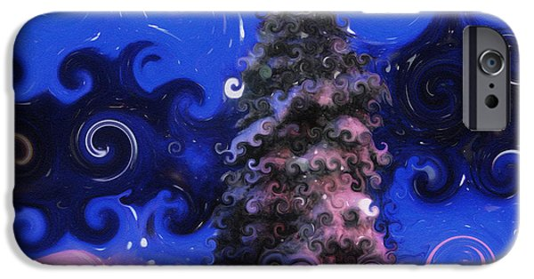 Snowy Night Mixed Media iPhone Cases - A Colorful Winter iPhone Case by Lj Lambert