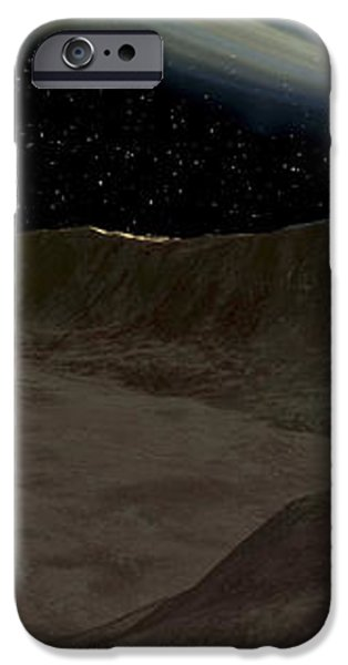 A Comet Passes Over The Surface iPhone Case by Ron Miller