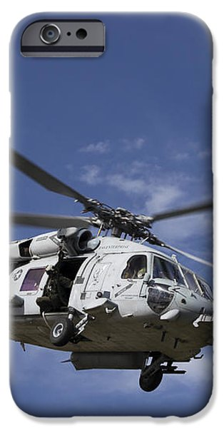 A Crew Chief Looks Out The Side Door iPhone Case by Michael Wood