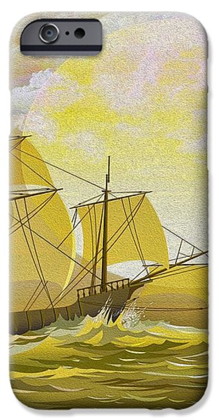 A Day at Sea iPhone Case by Cheryl Young