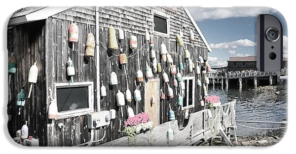 Lobster Shack iPhone Cases - A Day in Bar Harbor iPhone Case by Betty LaRue