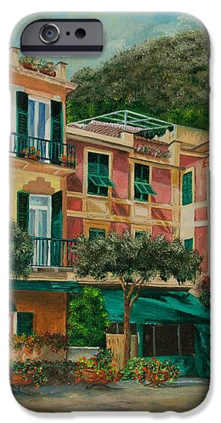 A Day in Portofino iPhone Case by Charlotte Blanchard
