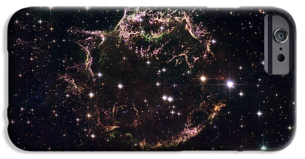 Starfield iPhone Cases - A Detailed View At The Tattered Remains iPhone Case by Stocktrek Images