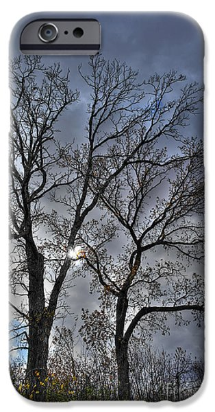A Fall Sky iPhone Case by David Bearden