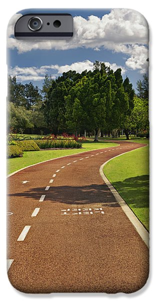 Man Made Space iPhone Cases - A Fitness Trail In Burswood Park. A iPhone Case by Tatiana Boyle