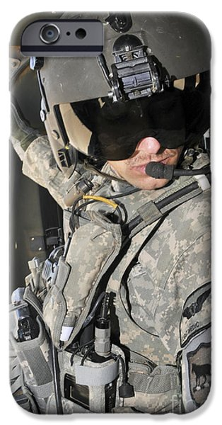Iraq iPhone Cases - A Flight Medic Conducts A Daily iPhone Case by Stocktrek Images