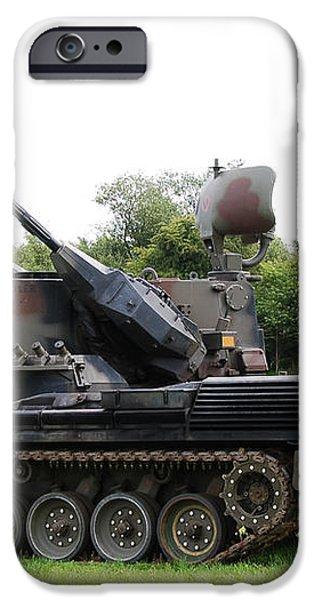 A Gepard Anti-aircraft Tank iPhone Case by Luc De Jaeger