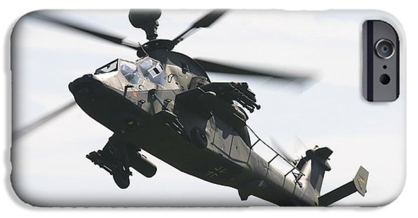The Tiger iPhone Cases - A German Army Tiger Eurocopter iPhone Case by Timm Ziegenthaler