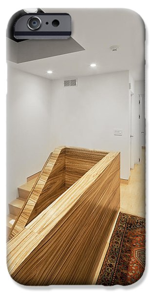 Electrical Equipment iPhone Cases - A Hallway And Landing. White Walls iPhone Case by Christian Scully