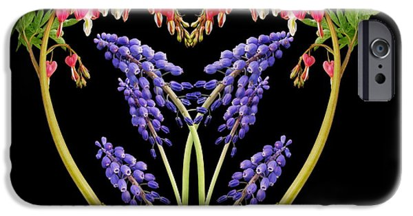 Flower Design Photographs iPhone Cases - A Heart of Hearts iPhone Case by Michael Peychich