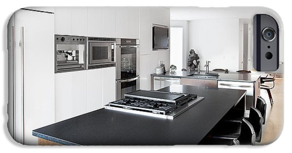 Electrical Equipment iPhone Cases - A House Interior A Fitted Kitchen iPhone Case by Christian Scully