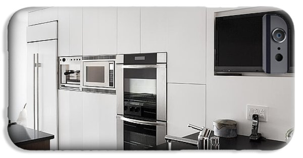 Electrical Equipment iPhone Cases - A House With A Modern Fitted Kitchen iPhone Case by Christian Scully