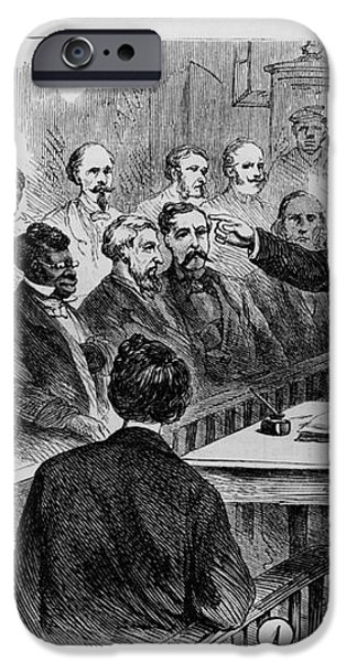 A Jury Of Whites And Blacks iPhone Case by Photo Researchers