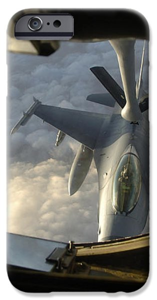 A Kc-135 Stratotanker Connects With An iPhone Case by Stocktrek Images