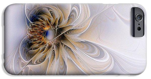 Floral Digital Art Digital Art iPhone Cases - A Keepsake iPhone Case by Amanda Moore