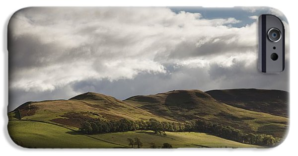 Power Industry iPhone Cases - A Landscape With Rolling Hills And iPhone Case by John Short