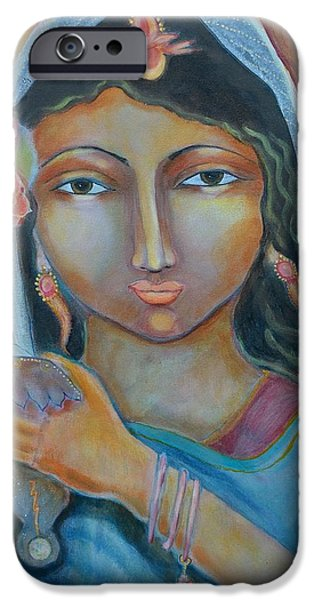 Goddess Durga iPhone Cases - A Little Drop of Durga iPhone Case by Kate Langlois