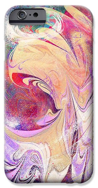 Night Angel Digital Art iPhone Cases - A little sparkle a little magic iPhone Case by Rachel Christine Nowicki