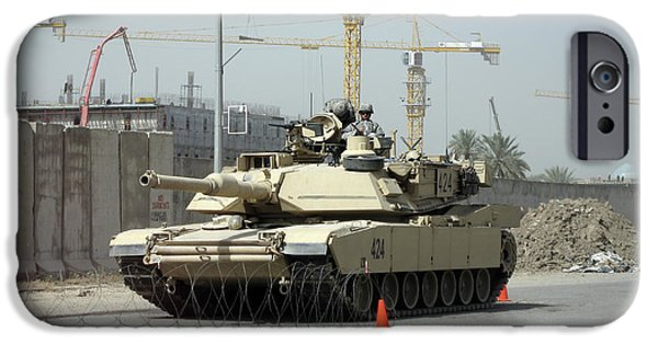 Baghdad iPhone Cases - A M1 Abram Sits Out Front Of The New iPhone Case by Terry Moore