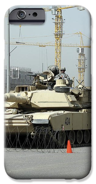 A M1 Abram Sits Out Front Of The New iPhone Case by Terry Moore