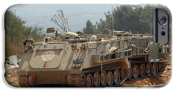 Israeli iPhone Cases - A M113 Armored Personnel Carrier iPhone Case by Andrew Chittock