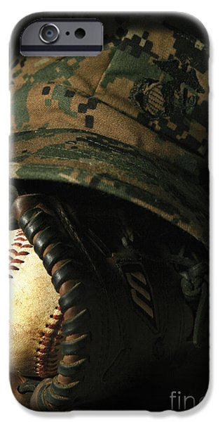A Marines Athletic Gear iPhone Case by Stocktrek Images