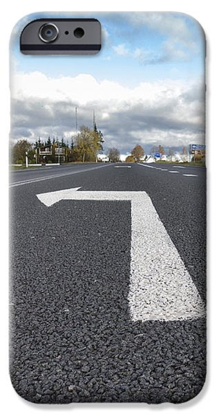 A Metalled Road With A Large iPhone Case by Jaak Nilson