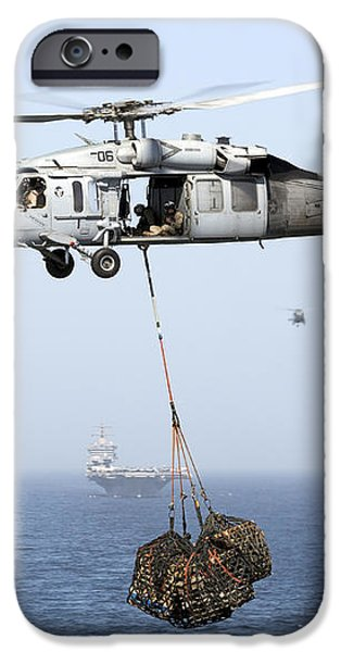 A Mh-60 Helicopter Transfers Cargo iPhone Case by Gert Kromhout