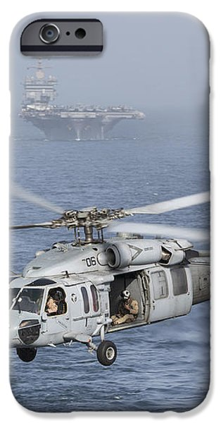 A Mh-60s Knighthawk Conducts A Vertical iPhone Case by Gert Kromhout