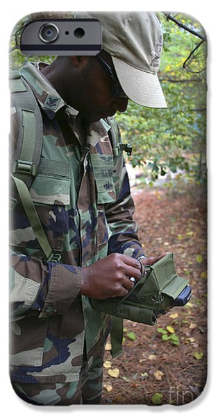 A Military Technician Uses A Pda iPhone Case by Michael Wood