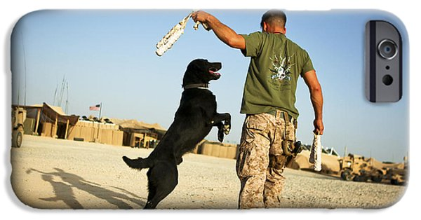 Recently Sold -  - Bonding iPhone Cases - A Military Working Dog Handler Conducts iPhone Case by Stocktrek Images