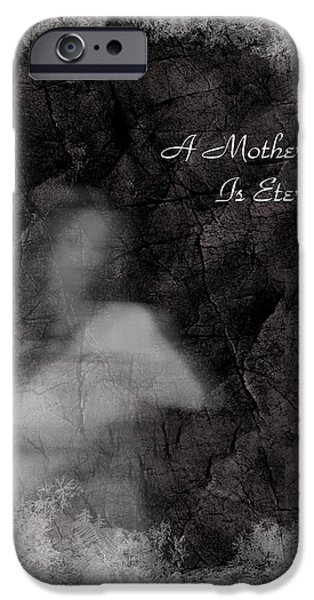 Paranormal Digital iPhone Cases - A Mothers Love iPhone Case by Rhonda Barrett