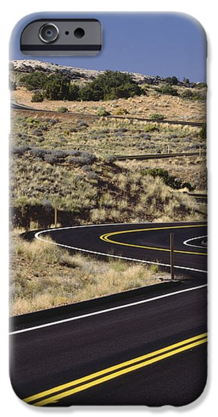A Newly Paved Winding Road Up A Slight iPhone Case by Greg Probst