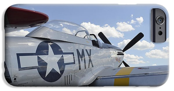 North American Aviation iPhone Cases - A North American F-51d Mustang iPhone Case by Stocktrek Images