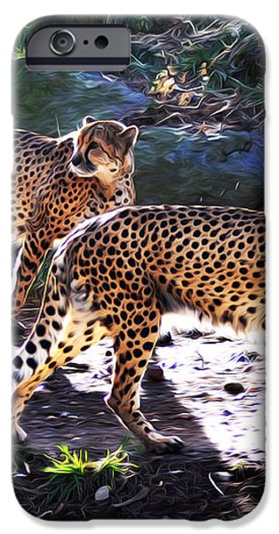 A Pair of Cheetah's iPhone Case by Bill Cannon