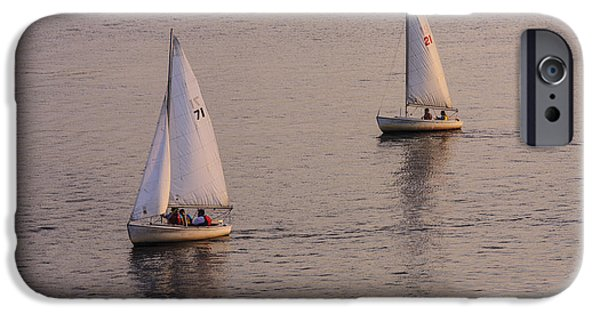 Sailboat Photos iPhone Cases - A Pair iPhone Case by Rick Berk