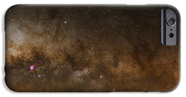 Stellar iPhone Cases - A Panorama Of The Milky Way iPhone Case by Luis Argerich