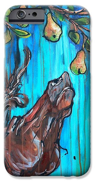 Pear Tree Paintings iPhone Cases - A Pearantly Deoable iPhone Case by Jonelle T McCoy