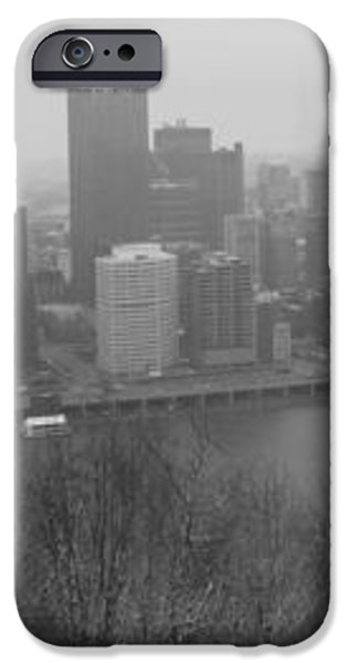A Pittsburgh Winter Day iPhone Case by David Bearden