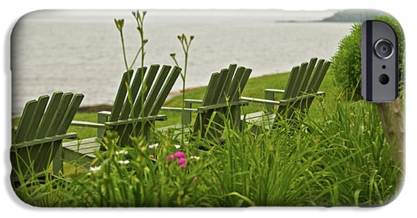 Mid-coast Maine iPhone Cases - A Place to Relax iPhone Case by Paul Mangold
