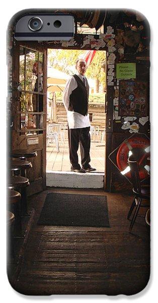 A portrait of a bartender iPhone Case by Hiroko Sakai
