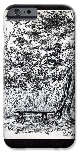 A Quiet Corner 1958 iPhone Case by John Chatterley
