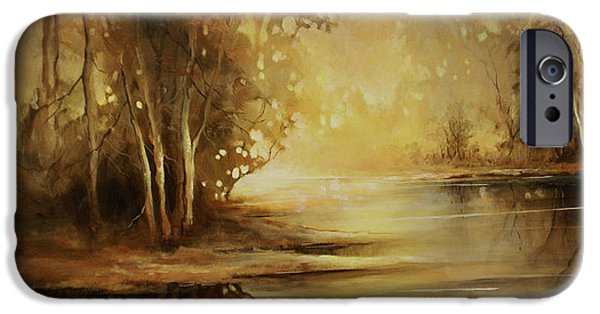Creek iPhone Cases - A Quiet Moment iPhone Case by Michael Lang