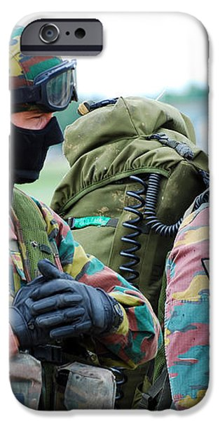 A Radio Operator And Members iPhone Case by Luc De Jaeger