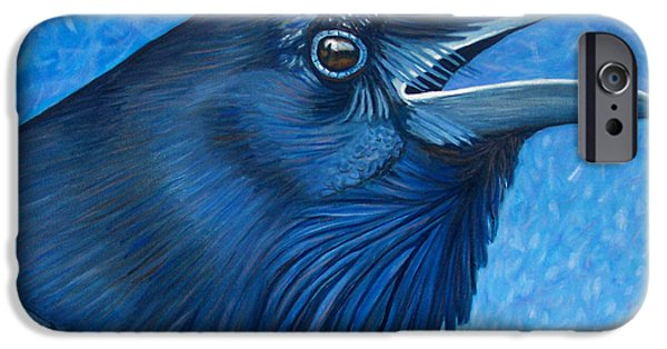 Corvid iPhone Cases - A Ravens Prayer iPhone Case by Brian  Commerford