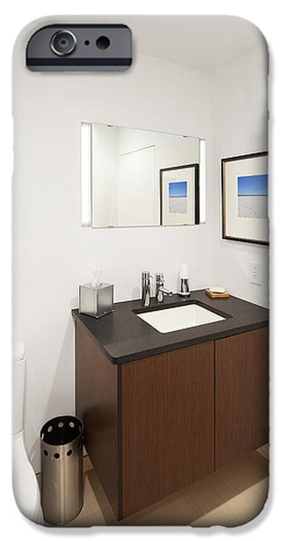 Electrical Equipment Photographs iPhone Cases - A Restroom Or Bathroom. Toilet iPhone Case by Christian Scully