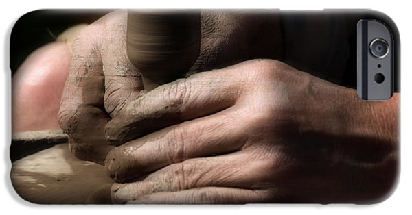 Pottery iPhone Cases - A River of Hands iPhone Case by Steven  Digman