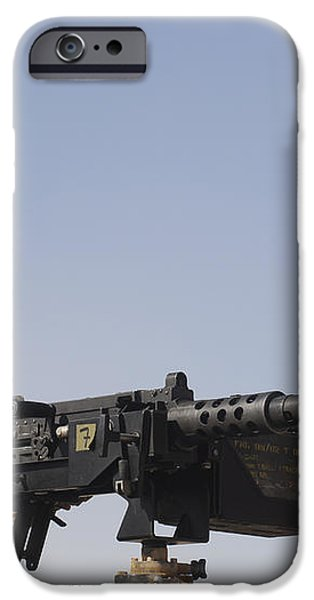 A Royal Marine Manning A .50 Caliber iPhone Case by Andrew Chittock