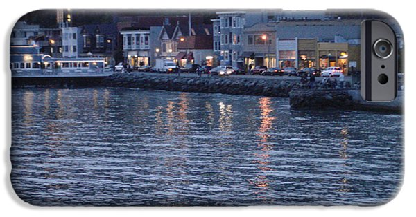 Sausalito iPhone Cases - A scenery of Sausalito at dusk iPhone Case by Hiroko Sakai