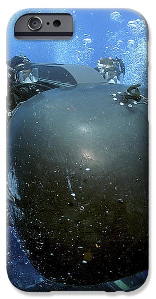 A Seal Delivery Vehicle Team Member iPhone Case by Stocktrek Images